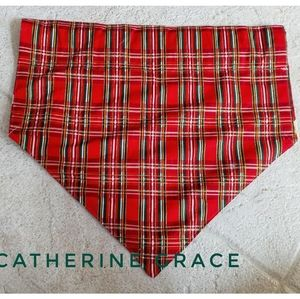 Dog bandana, holly, mistletoe, plaid, Christmas